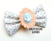 Cute for Spring - Rockabilly Pinup Polka Anchor Hair bow