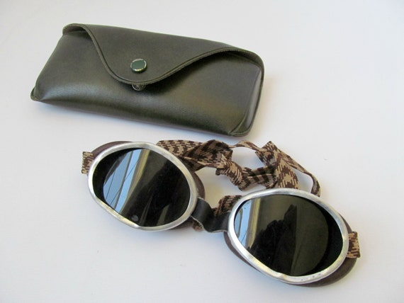 1960s Steampunk Military Goggles