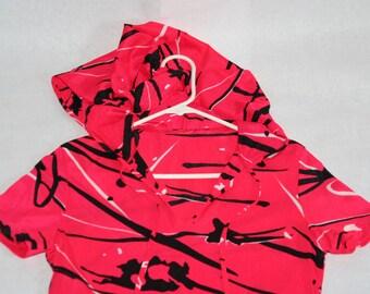 Crazy Rad Vintage 70's Printed Hooded Nylon Dress- Size M