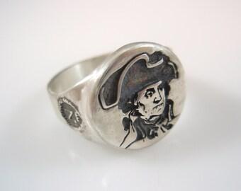 Napoléon Bonaparte Portrait Sterling Silver 925 Ring by EZI ZINO