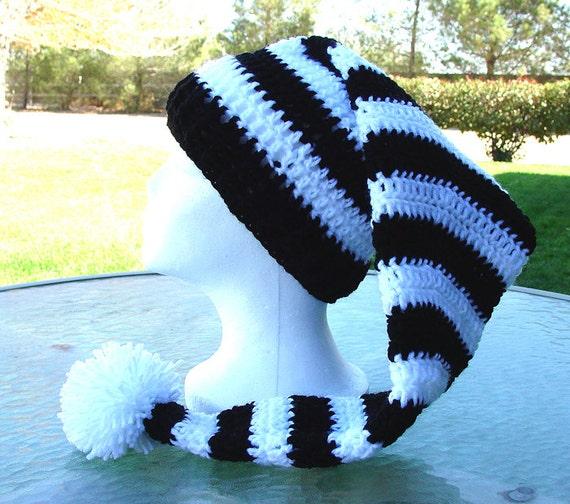 Items similar to Handmade Crochet SRA Long Stocking Beanie ...
