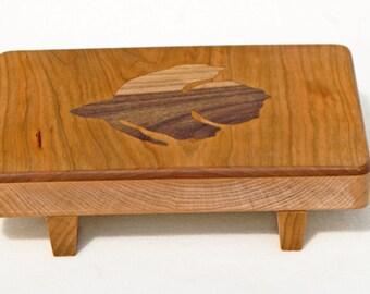 Ornamental fish cutting board, Footed cutting board, Wooden cutting board, Cherry kitchen, Betta fish decor, Wood sushi tray, Sushi board