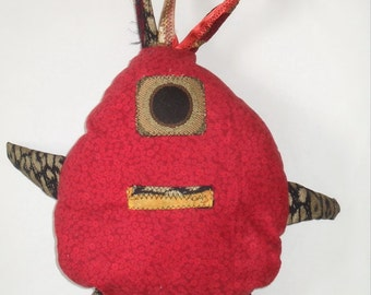 Red One Eyed Monster Stuffed Animal - Red