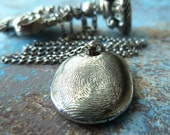 Silver Fingerprint Necklace. Personalized Keepsake Jewelry. Made to Order Fingerprint Jewelry.