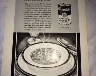 Campbell Soup ad circa Dec 1932.