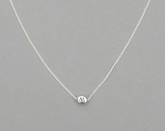 Initial M Bead Necklace