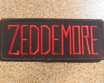 """Free shipping Ghostbusters ZEDDEMORE Movie Uniform Name Tag Iron On PATCH 5x12.5 cm 5"""""""