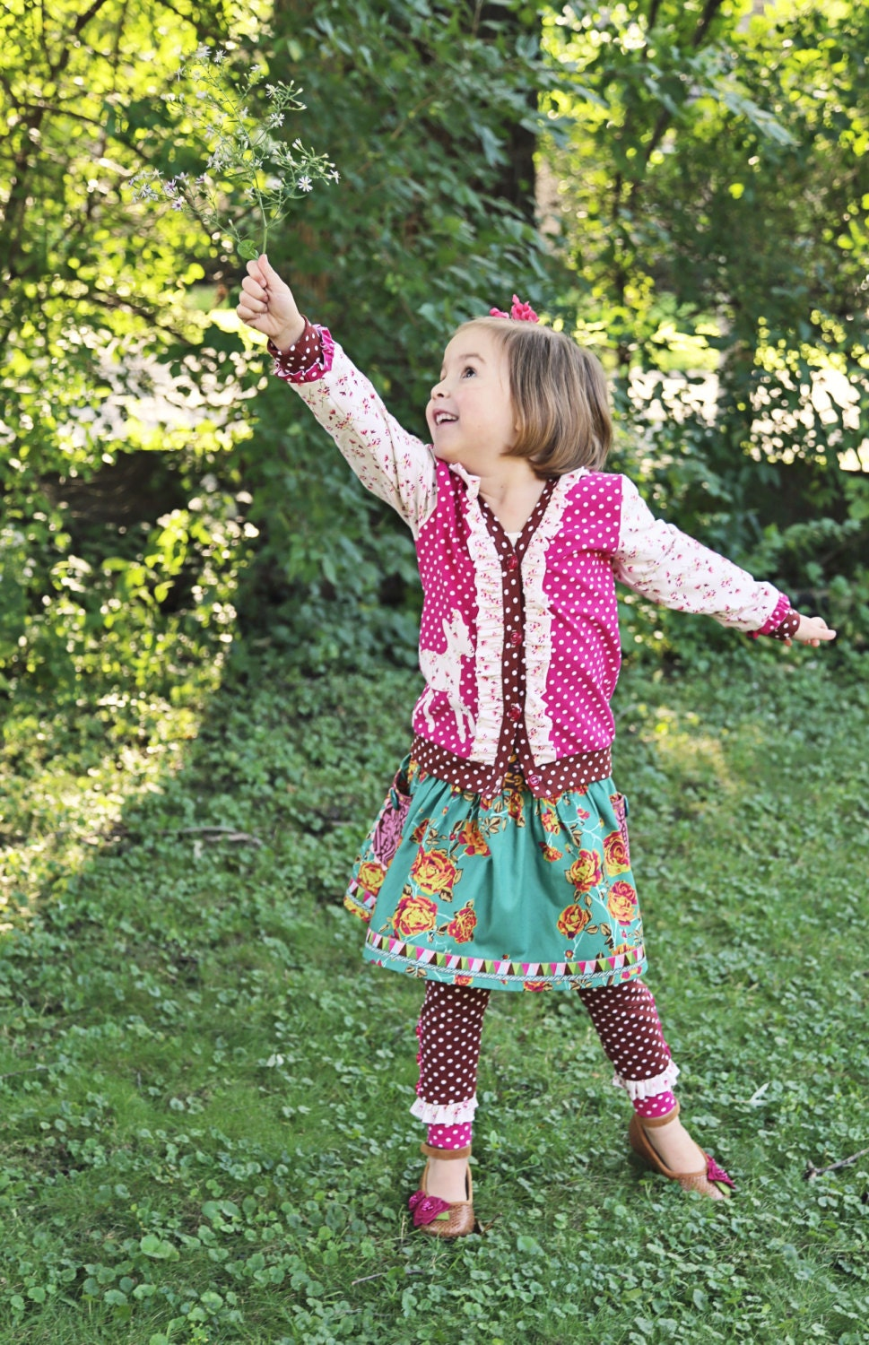 PDF Sewing Pattern: Double Dutch Knit Cardigan - Size 6 Month - 10 Years