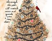 The Magical Tree / original illustration ART Print SIGNED / 8 x 10 / NEW