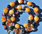 Clemson Orange Purple Tailgate Necklace