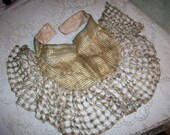 Incredible collar piece of gold lame criss cross lacey design