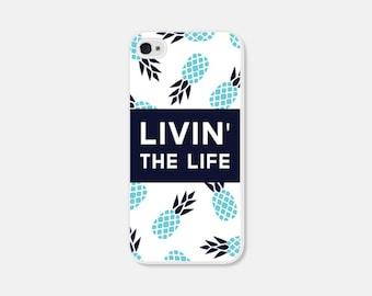 iPhone Case - Pineapple iPhone 5c Case - Pineapple iPhone 5 Case - Pineapple iPhone 4s Case - Pineapple iPhone 5s Case - Blue Aqua Turquoise