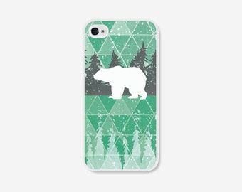 iPhone 5 Case - iPhone 5c Case - Geometric Phone Case - Mint Green Polar Bear - Geometric iPhone 4 Case - Geometric iPhone 5c Case