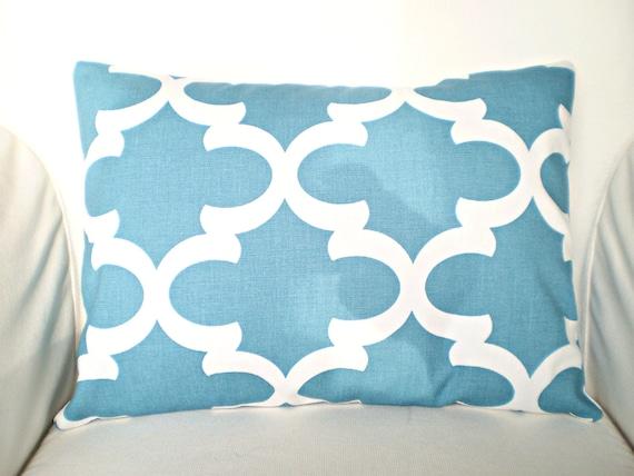 Blue Lumbar Throw Pillow : Blue Lumbar Pillow Cover Decorative Throw Pillows Cushion