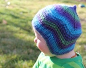 Made to Order Hand Knit Soft Wool Shaped Earflap Hat with Optional Chin Ties, Newborn - Child Sizes Available