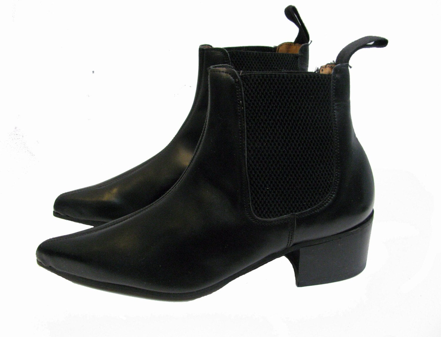 English Chelsea Boots Tredair Uk Black Leather Pointed Toe
