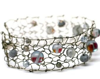 moonstone bracelet labradorite bracelet delicate bracelet skinny cuff bracelet gemstone jewelry handmade jewelry gift for her