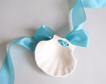 Cape Cod Shell Design Cake Topper or Ring Dish