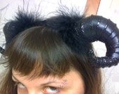 black Satyr horns head piece