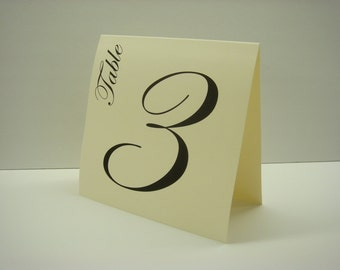 Wedding Table Number Tent Design Elegant Script Font and Large Size Design for Your Wedding Reception Table Top Decor