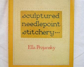 vintage book - Sculptured Needlepoint Stitchery - circa 1978