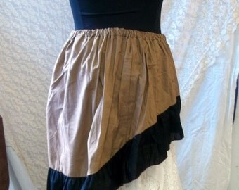 Wenchling Hi Lo High Low Pirate Skirt Asymmetric  Cotton Ruffled Wench Steampunk Mori Girl