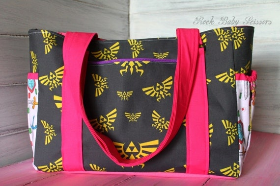 Design Your Own Spoonflower Tote style Diaper Bag or large Purse made with any Spoonflower fabric