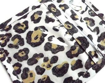 Jewelry  Bag Zippered Bag Vinyl Fabric Bag Faux Animal Print Knitting Organizer Small Pouch Cosmetic Bag Make Up Sac Travel Bag Yellow Gray