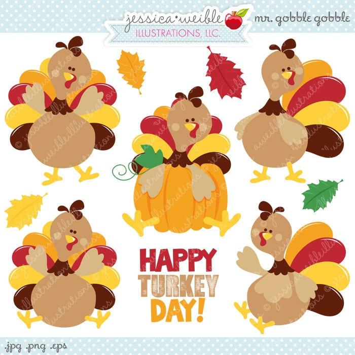 Cute Thanksgiving Feast Clip Art Turkey clipart, turkey
