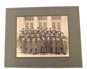 Vintage Black and White School Graduation Photo A4