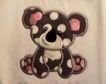 Personalized Koala Baby Bib, embroidery/appliqué