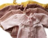 0-12 Months Handwowen Baby Cardigan - Baby Girl - Baby Shower Gift