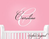 Nursery Wall Decals. Elegant name wall decal for boys and girls rooms. Custom made in any colors and size you want.
