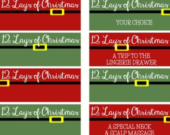 12 Lays of Christmas - Naughty Coupons for Him/Her