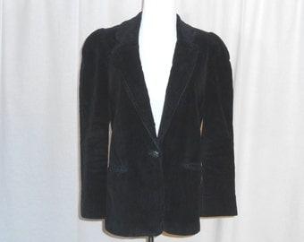 Womens Blazer Vintage Blazer Blue Corduroy Blazer Peabody House 70s Blazer Womens Vintage Clothing
