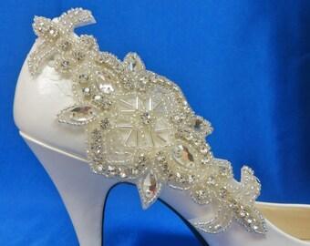 Bridal Shoe Clips, Rhinestone Shoe Clip,  Wedding Shoes, Bridal Accessory, Set of 2