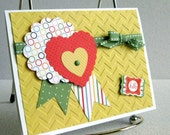 All Occasion Greeting Card Handmade for Any Reason Cheery Yellow Card