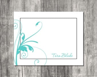 Personalized Note Cards Set - Framed Flourish