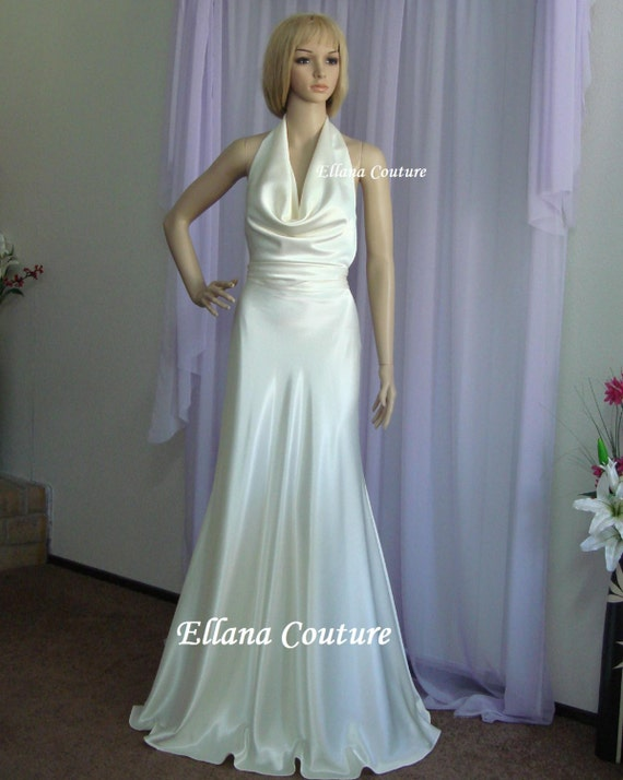 Diana - Elegant and Sexy Wedding Dress. Vintage Inspired Design.