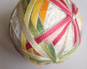 Spring wrappings temari ball