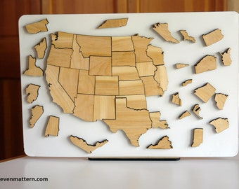 USA Map Puzzle - Ash