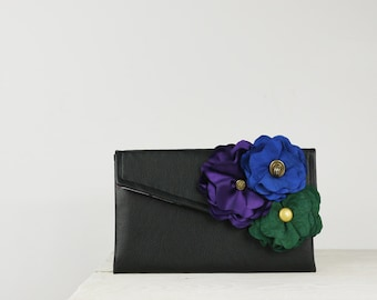 Peacock wedding clutch, peacock purse, custom bridesmaid gift