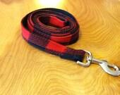 Buffalo Check Dog Leash, dog leashes, made in USA