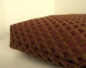 Dog Bed Cover   Maroon and Gold Dimensional Upholstery  18 x 24