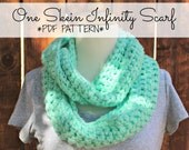 DIGITAL FILE One Skein Infinity Scarf Pattern