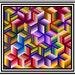 """NEW - ILLUMINATION - 109"""" x 102"""" - Quilt-Addicts Pre-cut Patchwork Quilt Kit or Finished Quilt King size"""