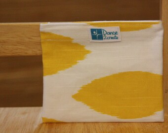 Reusable Sandwich Bag - Yellow Dot - snack size