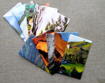 Set of 10 Mini Envelopes, Nature Themed