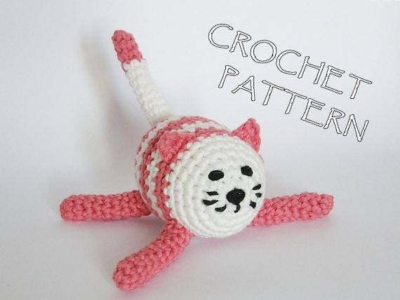 Amigurumi Cat crochet pattern - pdf tutorial written in US English