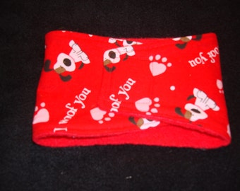Valentine's Male Dog Diaper -Belly Band - I Woof You
